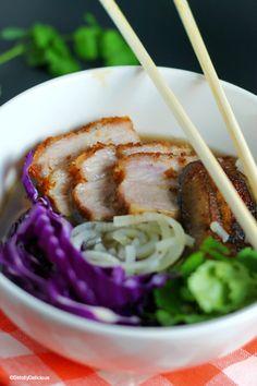 "Pork Belly ""Ramen"" Noodle Bowl {paleo & AIP} | StrictlyDelicious.com"