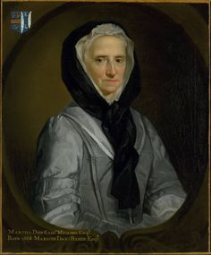 Allan Ramsay, Portrait of Martha Baker, 1739  Probably half-mourning