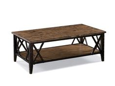 Industrialize your version of kicked-back decor with Fleming. Train-trestle inspired edges and rustic rivet details give a rough edge to seasoned, slip-hewn knotty pine.