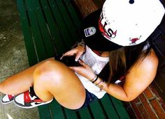 ImageFind images and videos about girl, swag and nike on We Heart It - the app to get lost in what you love. Sporty Outfits, Summer Outfits, Cute Outfits, Swag Outfits, Nba Snapbacks, Swag Style, My Style, Nba Hats, Hip Hop
