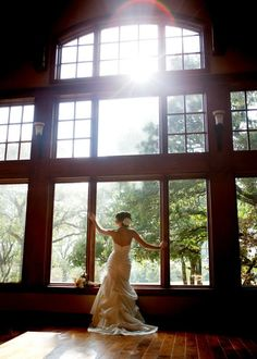 Perhaps a shot like this inside the all glass prayer chapel?