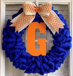 Burlap Wreath Monogram Wreath Monogram Gifts by JnSMDesigns