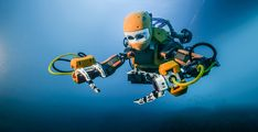 Maiden voyage of Stanford's humanoid robotic diver recovers treasures from King Louis XIV's wrecked flagship- The robot, called OceanOne, is powered by artificial intelligence and haptic feedback systems, allowing human pilots an unprecedented ability to explore the depths of the oceans in high fidelity.The robot, called OceanOne, is powered by artificial intelligence and haptic feedback systems, allowing human pilots an unprecedented ability to explore the depths of the oceans in high…
