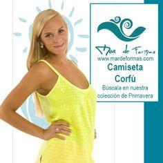 La Camiseta Corfú Búscala en neustra colección de Primavera-Verano http://www.mardeformas.com/ca/12-camiseta-corfu.html