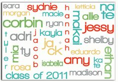 Use Wordle to make a sign for the classroom door, with all the students' names on it.