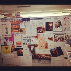 @Judi Pena's ever-changing inspiration board also known as her cubicle. #inspiration