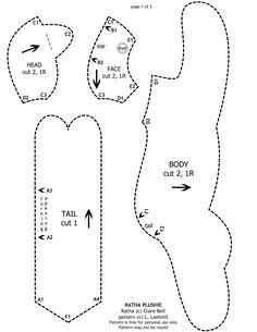 Freebie Ratha Plushie Pattern page 1 by Viergacht