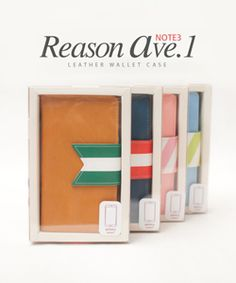 Reason Ave.1 Wallet Case for Galaxy Note3HappyMori specializes in quality cell phone cases designed at the design studio in South Korea. You