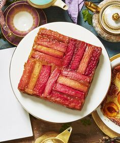 Rhubarb Upside- Down Cake | RealSimple.com
