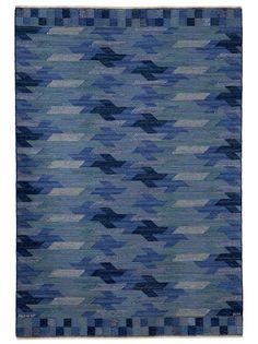 BLÅARP FALURUTAN, DUHS II Designed by Barbro Nilsson in 1962 #MMF #MärtaMååsFjetterström #MartaMaas #BarbroNilsson #Handwoven #Handmade #Flatweave #Rug #Rugs #SwedishCarpets #SwedishDesign
