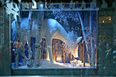 Tiffany's Window Jewel bedecked snowy deer in Tiffany's Christmas window display. newyorkdailyphoto.com