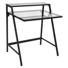 Lumisource 2-Tier Desk - Black/Clear Cool thing about having a desk with glass is that you can write on the glass with expo markers!