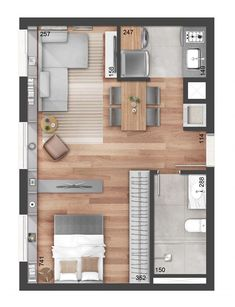 This is exactly the apartment floorplan I love!