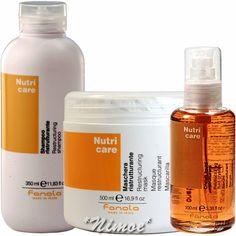 Nutri Care start kit Mask + Shampoo + Fluid Crystals Fanola ® Dry & Frizzy Hair