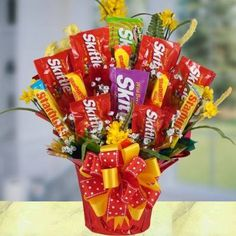 Screaming Skittles Bouquet Candy Gift Basket « Blast Gifts