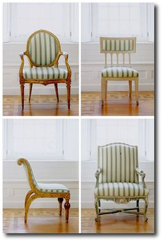 Neoclassicism At It's Best - 40 Phenomenal Fabric Choices in Green - The Regency Furniture Blog