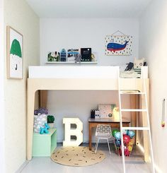 Think about how to maximise the space in your child's room. Consider the type of bed (and where it fits in the room)