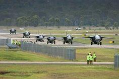 A line up of RAAF F111