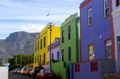 Bo-Kaap-. Cape Town, South Africa houses