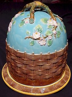 Majolica.  This blue with the white blossoms is pure wonderful.