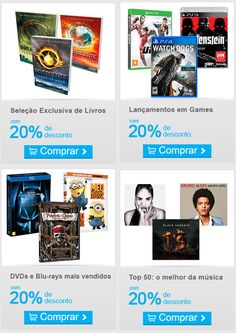 Livros, Games e DVDs com 20% OFF no Submarino »