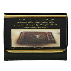 Call unto me and I will answer thee Jeremiah 33:3 Wallets For Women - foil leaf gift idea special template