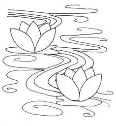 sashiko- pattern-waterlily