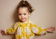 Summer yellow blouse top flower cotton white raglan by maliposha, $27.00