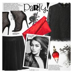 """""""Party Girl"""" by pokadoll ❤ liked on Polyvore featuring Hedi Slimane, Diane Von Furstenberg, polyvoreeditorial and polyvoreset"""