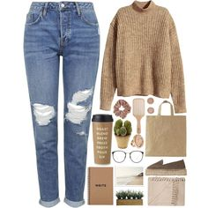 Here by annaclaraalvez on Polyvore featuring H&M, Topshop, Manebà , Michael…