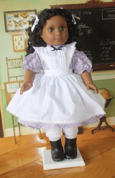 American Girl 1860s Pinafore Dress in Lilac by RuthielovestoSew, $36.00