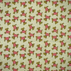 Tiny Scotty Dogs Print, Quilting Cotton Fabric, Marcus Bros Textiles, Aunt Grace Collection, Brown, Red on Cream, 42 x 35, B9 by DartingDogFabric on Etsy