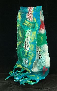 Wet Felted Scarf Troy Berggren Lacey