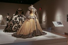 Greta Garbo costume from the movie Queen Christina by Adrian, the one with the swirls is from Marie Antoinette also by Adrian