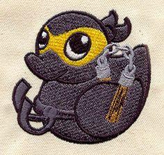 Embroidery Designs at Urban Threads - Ninja Duckie