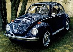 Example of Biscay Blue paint on a 1973 Volkswagen Beetle
