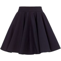 Surface to Air Navy Cotton Skater Skirt (1 885 UAH) ❤ liked on Polyvore featuring skirts, bottoms, navy, navy cotton skirt, blue skirt, navy blue circle skirt, zipper skirt and skater skirts