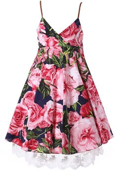 Happy Rose Little Girls Dress Beach Dress Sleeveless Flower Lace 4. Made of high quality 100% Cotton excellent workmanship. Size 2 is for 1-2 years old girl , size 4 is for 3-4 years old girl ,size 6 is for 5-6 years old girl , size 8 is for 7-8 years old girl , size 10 is for 9-10 years old girl .