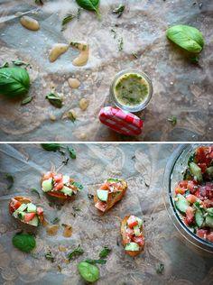 greek-salad-dressing-■3 Tbsp Extra Virgin Olive Oil   ■2 Tbsp freshly squeezed lemon juice   ■2 Tbsp red wine vinegar   ■1.25 tsp fresh oregano, chopped   ■1.25 tsp fresh basil, chopped   ■1 small clove garlic (~1/2 tsp garlic paste)   ■1/2 tsp dijon mustard   ■1/4 tsp honey   ■1/2 tsp Himalayan Pink salt (substitute: sea salt)   ■1/8 tsp freshly ground black pepper