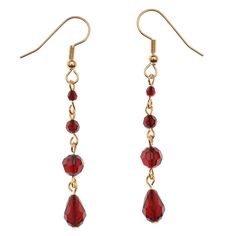 Tutorial - How to: Drops of Blood Earrings  #Jewelry #Swarovski #Crystal #red | Beadaholique