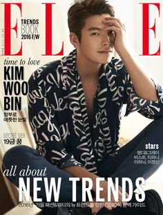 """""""Uncontrollably Fond"""" actor Kim Woo-bin is the cover model for Elle Magazine's August edition. Kim posed for the photos at a studio in Nonhyun-dong, Seoul, on July He had reportedly arrived right after filming for the drama """"Uncontrollably Fond. Kim Woo Bin, Korean Face, Korean Star, Korean Men, Asian Actors, Korean Actors, Korean Actresses, Kdrama, Uncontrollably Fond"""