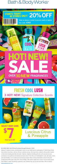 cd43819914 Bath   Body Works coupon   Bath   Body Works promo code from The Coupons  App. off at Bath   Body Works March