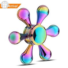 dff568f73 HTOYES Fidget Hand Spinner Rainbow Colorful Bright Plating Water Droplets  Fingertip Low Noise Metal Hand Spinner