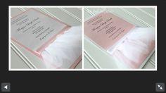 Shabby pink Invites