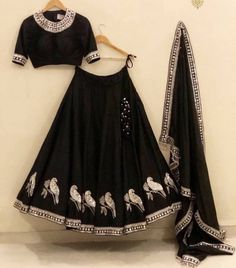 Buy New Latest Women (लहंगा) Lehenga Choli Designs 2020 Lehenga Top, Black Lehenga, Indian Lehenga, Lehenga Choli, Anarkali, Bollywood Lehenga, Garba Chaniya Choli, Sharara, Bridal Lehenga