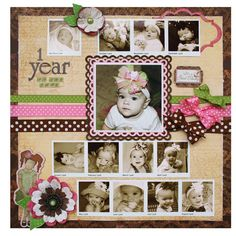 Such a cute way to include a bunch of photos on one layout! @Robbie Herring #bobunny #scrapbooking