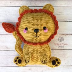 Crochet Amigurumi Ragdoll Lion Free Crochet Pattern - Hi, everyone! I'm back with the next addition to our Ragdoll collection. We are starting to build up quite the… Crochet Lion, Kawaii Crochet, Crochet Gratis, Crochet Amigurumi, Cute Crochet, Amigurumi Patterns, Amigurumi Doll, Crochet Animals, Crochet Dolls