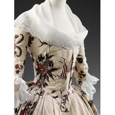 Overdress Place of origin: Coromandel Coast, India (made) Date: ca. 1760-1770 (made) Artist/Maker: Unknown (production) Materials and Techniques: Painted and dyed cotton, partly lined with silk