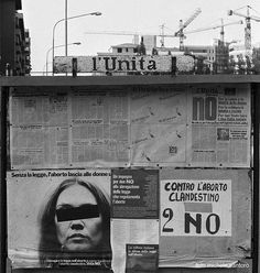 """Propaganda sui referendum"" - Via Lamarmora - 1981 http://www.bresciavintage.it/brescia-antica/fotografie-d-autore/propaganda-sui-referendum-via-lamarmora-1981/"