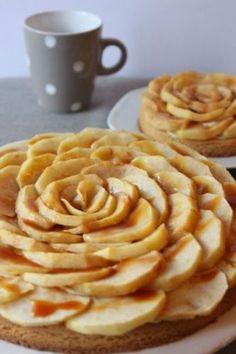 Tarta fina de manzanas y caramelo